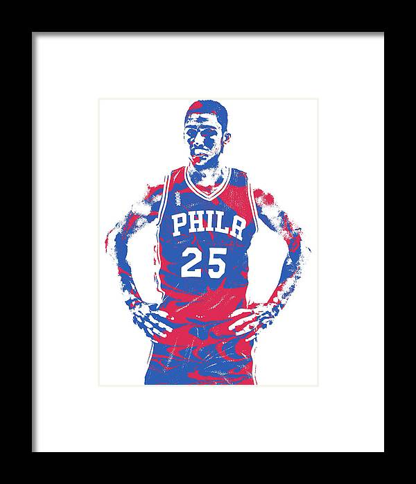 2d58edb0f5c Ben Simmons Framed Print featuring the mixed media Ben Simmons Philadelphia  Sixers Pixel Art 2 by