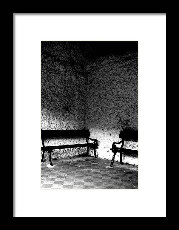 Jez C Self Framed Print featuring the photograph Benched by Jez C Self
