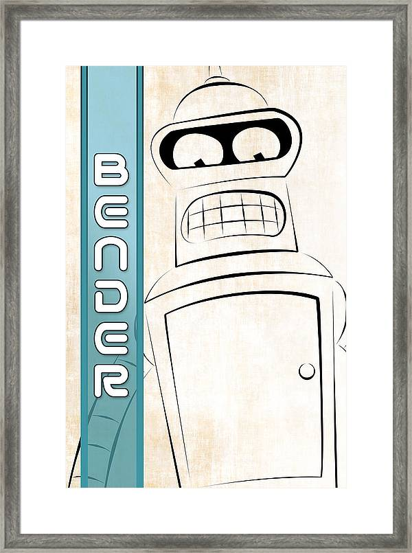 B /& W TV series Wall Art Futurama ART PRINT Fry and Leela illustration Gift