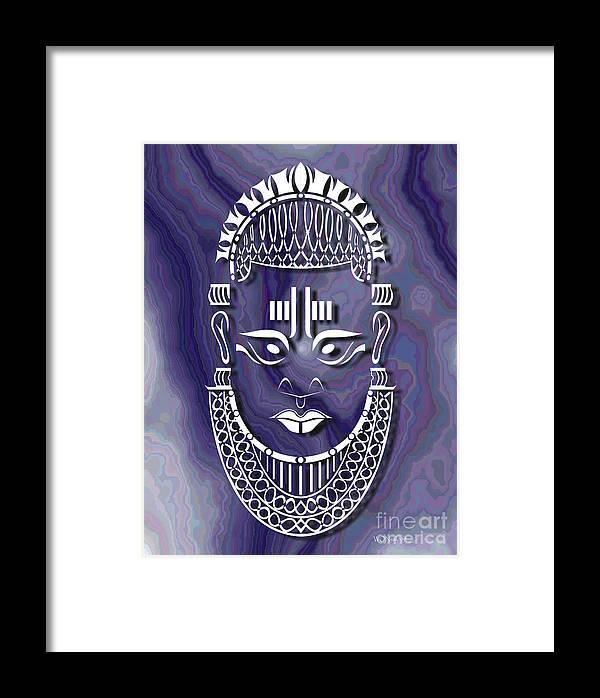 African Sculpture Framed Print featuring the digital art Benin Queen Mother by Walter Oliver Neal