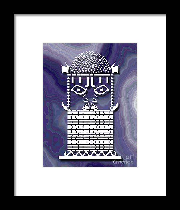African Sculpture Framed Print featuring the digital art Benin Warrior King by Walter Oliver Neal
