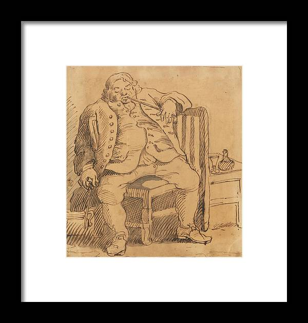 William Hogarth Framed Print featuring the drawing Benjamin Read by William Hogarth