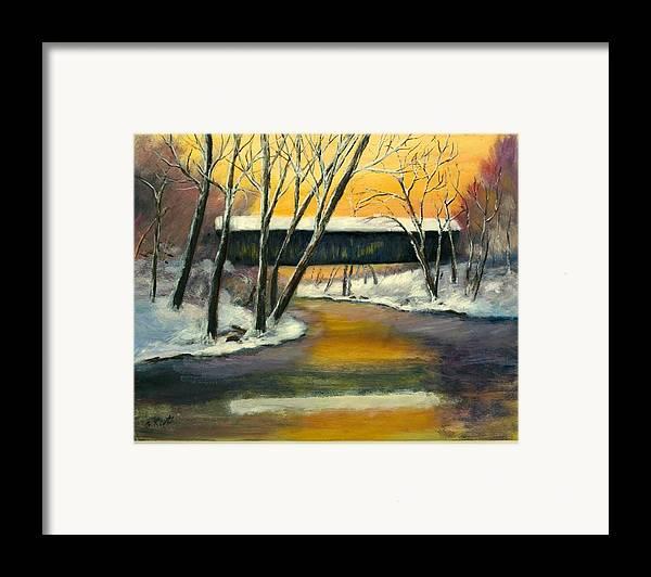 Kentucky Framed Print featuring the painting Bennett by Gail Kirtz