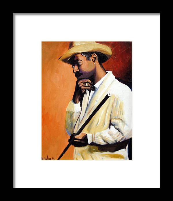 Cuban Art Framed Print featuring the painting Benny 2 by Jose Manuel Abraham