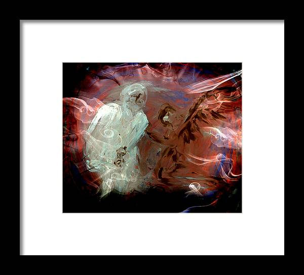 Ben Framed Print featuring the digital art Ben's Angel 10 by Dorothy Berry-Lound