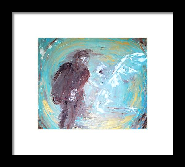 Angel Framed Print featuring the painting Ben's Angel 7 by Dorothy Berry-Lound