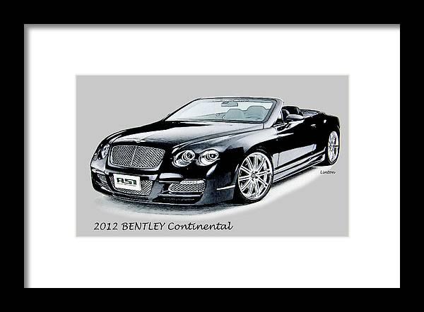 Bentley Framed Print featuring the digital art Bentley by Larry Linton