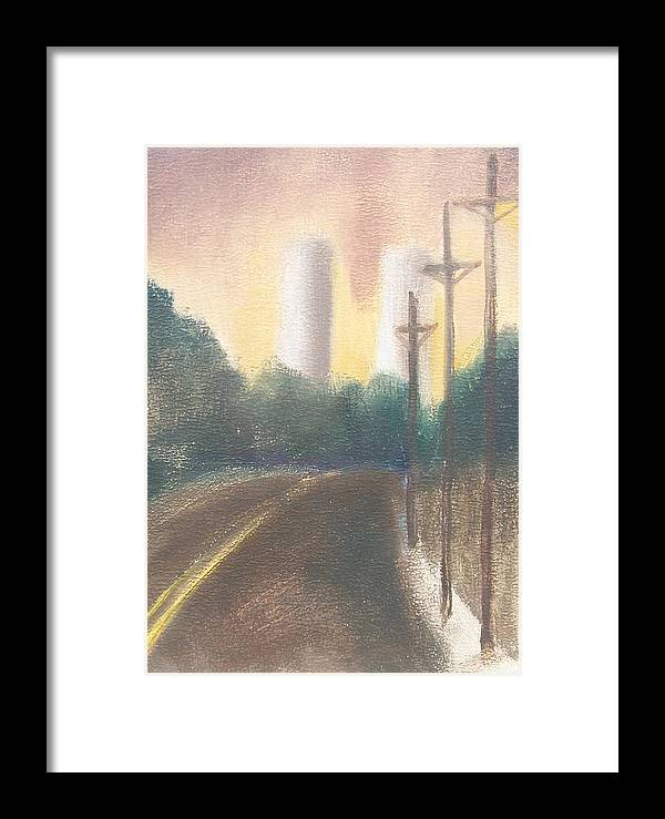 Landscape Framed Print featuring the painting Bergen Turnpike Study by Ron Erickson