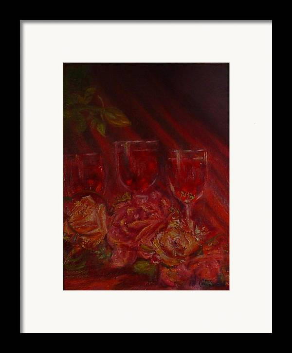 Wine And Roses Framed Print featuring the mixed media Beringer Cabernet Savignon by Helen Musser