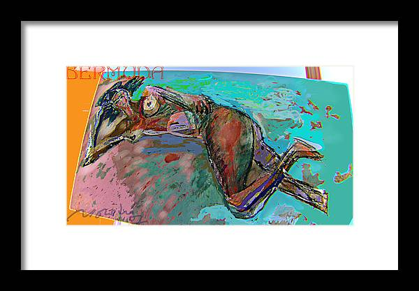 Nudes Framed Print featuring the mixed media Bermuda by Noredin Morgan
