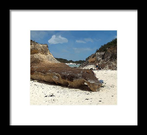 Bermuda Framed Print featuring the photograph Bermuda Path To The Sea by Ian MacDonald