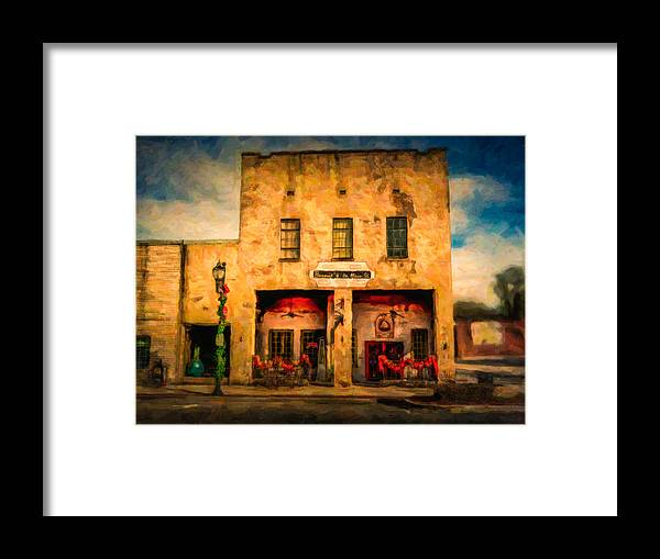 Bernie's Restaurant Framed Print featuring the photograph Bernie's by Phillip Burrow