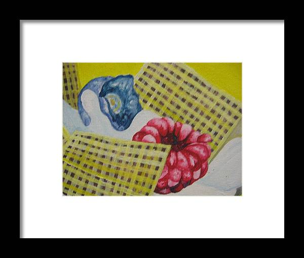 Berries Framed Print featuring the painting Berry Mix 2 by Theodora Dimitrijevic