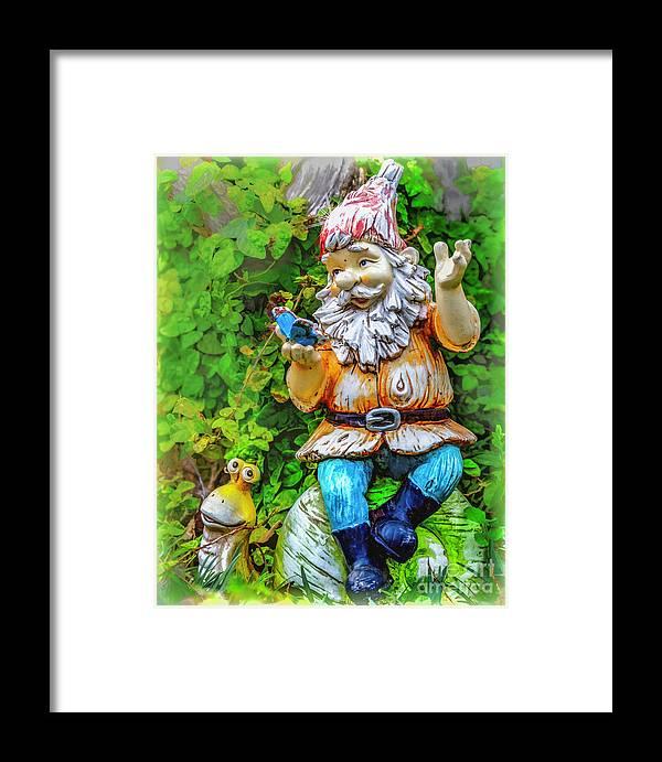 Gnomes Framed Print featuring the photograph Bert by Ken Frischkorn