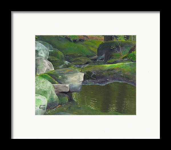 Landscape Framed Print featuring the painting Beside Cool Waters by Laurel Ellis