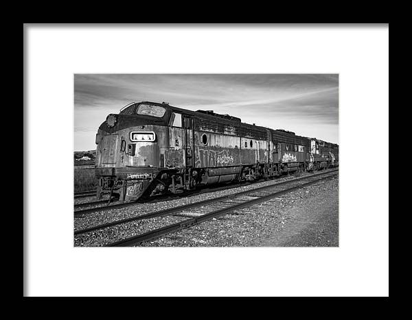 Train Framed Print featuring the photograph Bessemer And Lake Erie F7s by Rick Pisio