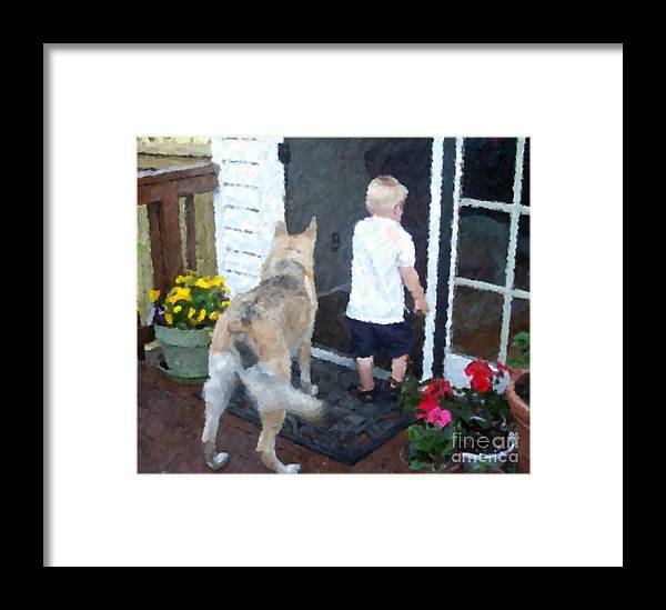 Dogs Framed Print featuring the photograph Best Friends by Debbi Granruth