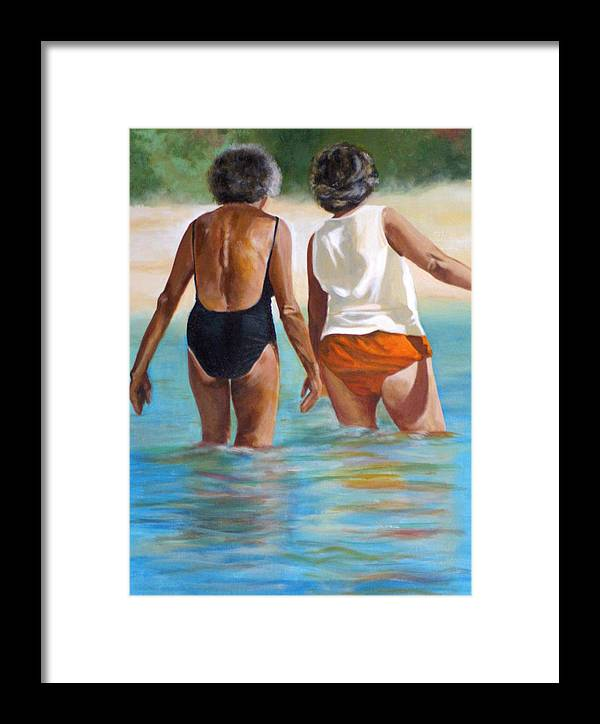 Friends Framed Print featuring the painting Best Friends by Fiona Jack
