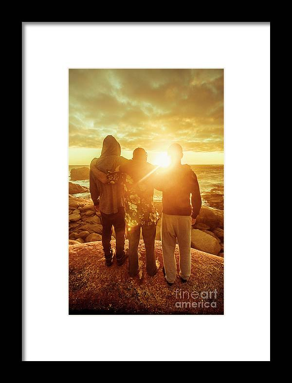 Friends Framed Print featuring the photograph Best Friends Greeting The Sun by Jorgo Photography - Wall Art Gallery