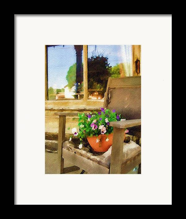 Pansies Framed Print featuring the photograph Best Seat In The House by Sandy MacGowan