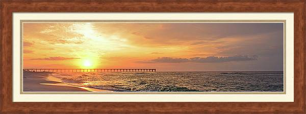 Best Sunrise Colors over Navarre Pier Panoramic by Jeff at JSJ Photography