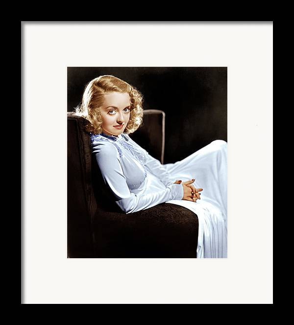 1930s Portraits Framed Print featuring the photograph Bette Davis, Ca. Late 1930s by Everett