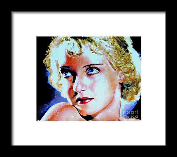 Bette Framed Print featuring the painting Bette by Wbk