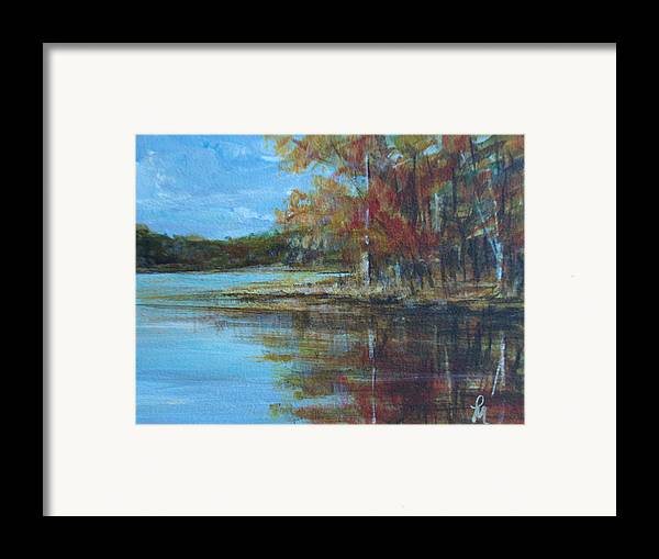 Lakescape Framed Print featuring the painting Better Days by Pete Maier