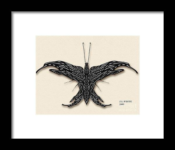 Butterfly--a New Digital Species. Framed Print featuring the digital art Better Fly by Jerry White