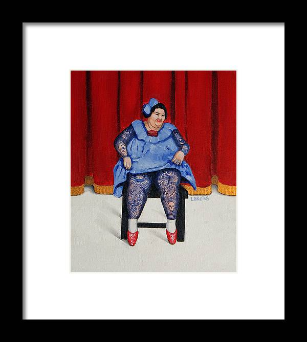 Fat Framed Print featuring the painting Betty 1 by Matthew Lake