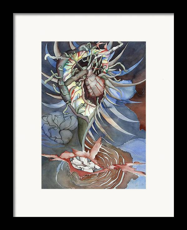Seallife Framed Print featuring the painting Between Two Worlds by Liduine Bekman