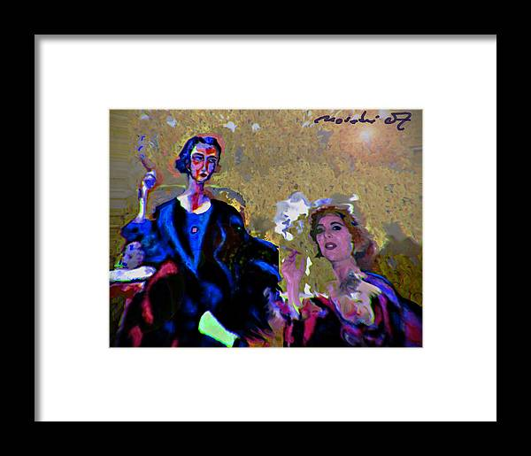 Human Composition Framed Print featuring the painting Between Us Gal by Noredin Morgan