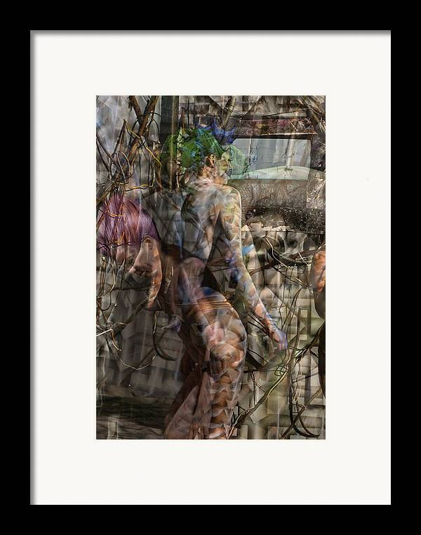 Alien Framed Print featuring the painting Between Worlds by Leigh Odom