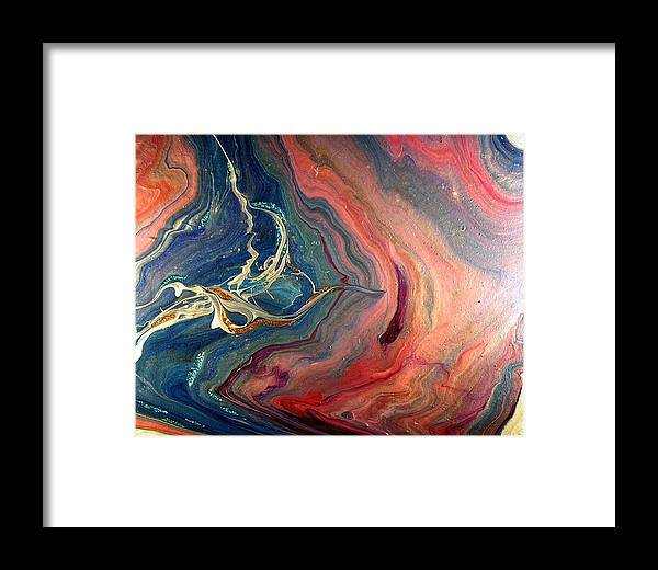 Abstract Framed Print featuring the painting Beyond by Patrick Mock
