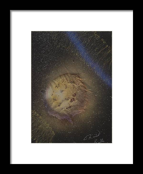 Glass Framed Print featuring the painting Beyond by Rick Silas
