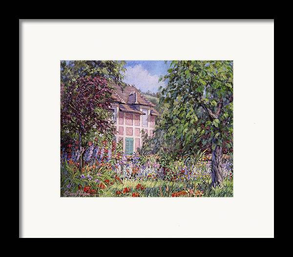 Monets Garden Framed Print featuring the painting Beyond The Garden by L Diane Johnson