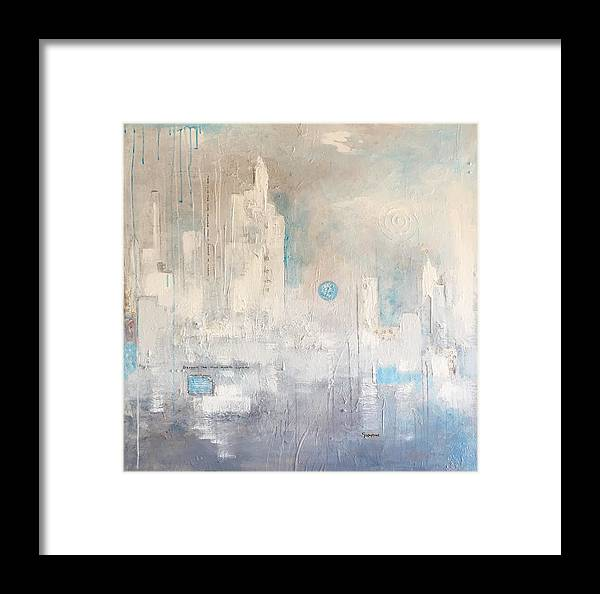 Germaine Fine Art Framed Print featuring the painting Beyond The Haze by Germaine Fine Art