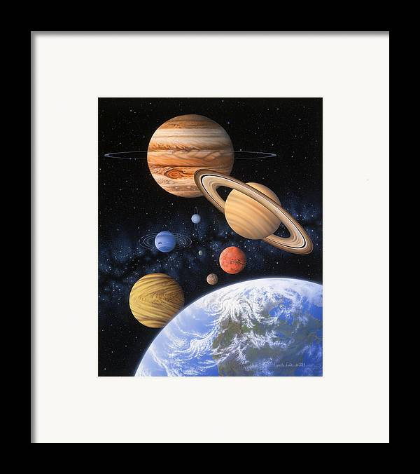 Lynette Cook Framed Print featuring the painting Beyond The Home Planet by Lynette Cook