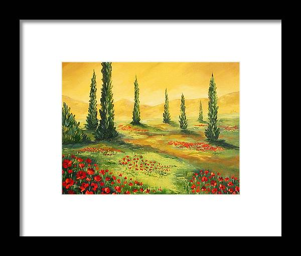 Tuscan Framed Print featuring the painting Beyond The Tuscan Sun by Torrie Smiley