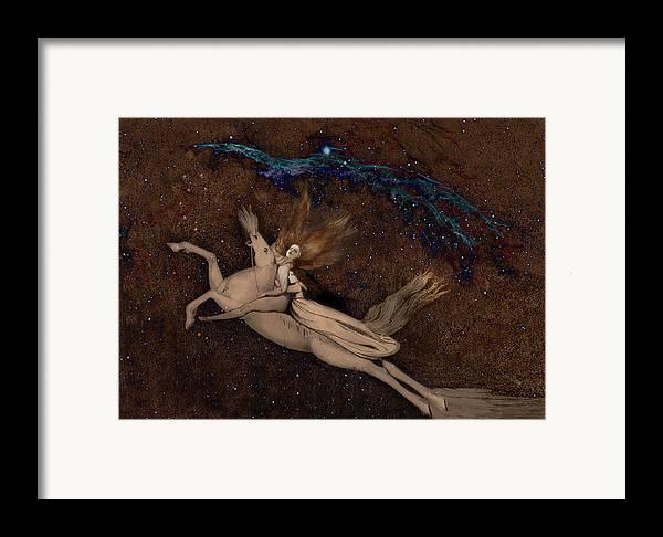 William Blake Framed Print featuring the digital art Beyond2 by Henriette Tuer lund