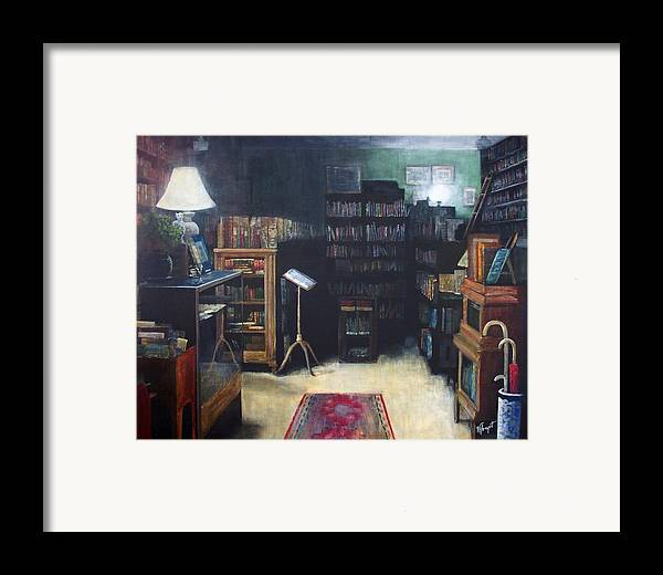 Library Framed Print featuring the painting Bibliopoly by Victoria Heryet