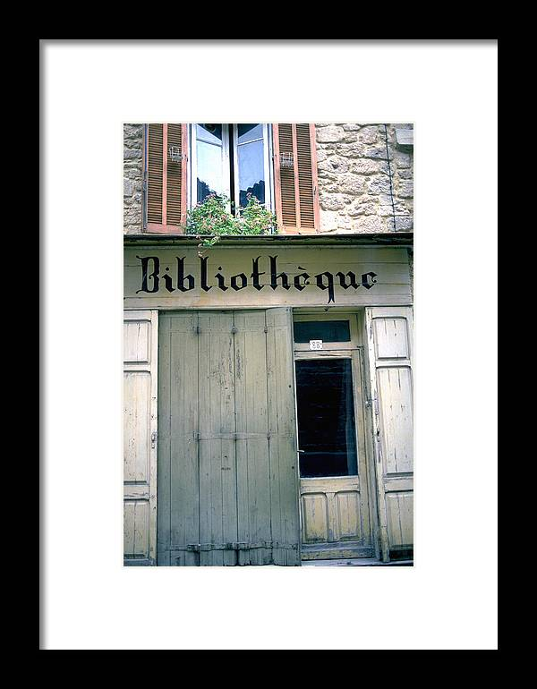 Bibliotheque Framed Print featuring the photograph Bibliotheque by Flavia Westerwelle