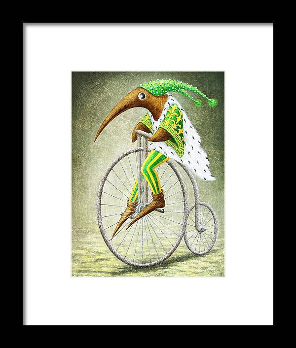 Bicycle Framed Print featuring the painting Bicycle by Lolita Bronzini
