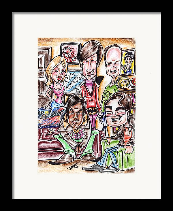 Big Bang Theory Framed Print featuring the drawing Big Bang Theory by Big Mike Roate