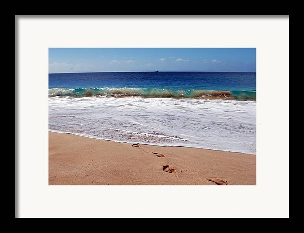 Framed Print featuring the photograph Big Beach by JK Photography