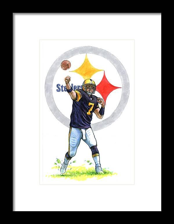 Pittsburgh Framed Print featuring the drawing Big Ben by Erik Schutzman