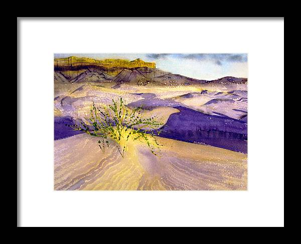 Landscape Framed Print featuring the painting Big Bend Landscape II by Myrna Salaun