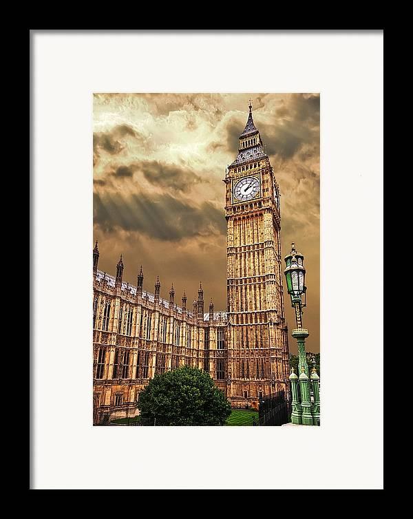 Big Ben Framed Print featuring the photograph Big Ben's House by Meirion Matthias