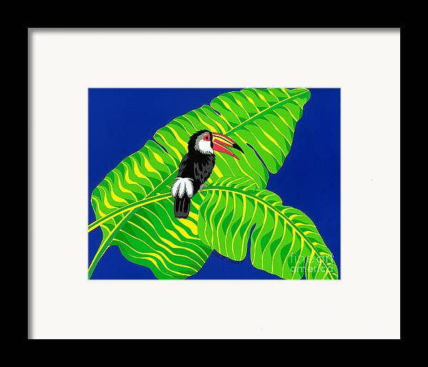 Nature Framed Print featuring the drawing Big Billed Bird by Lucyna A M Green