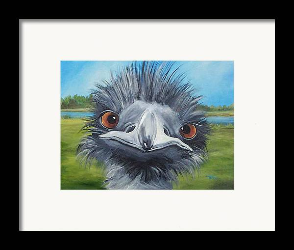 Emu Framed Print featuring the painting Big Bird - 2007 by Torrie Smiley